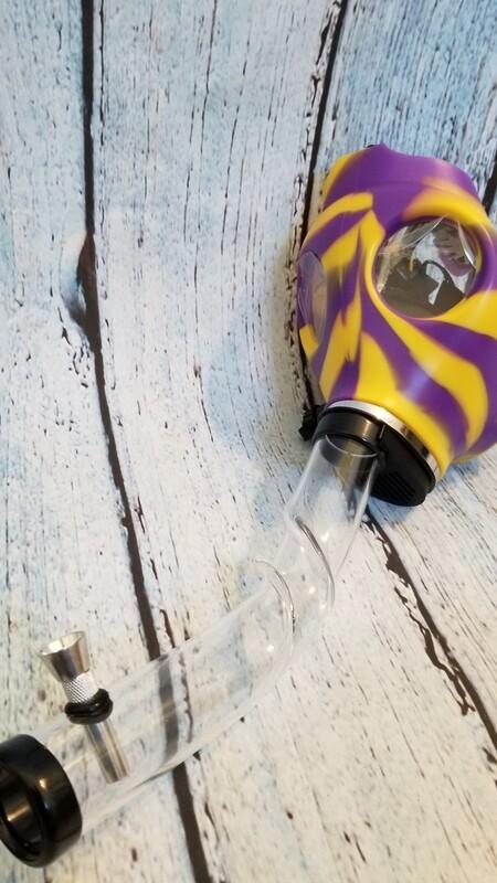 Gas Mask Purple and Yellow
