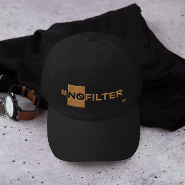 """No Filter"" Embroidered Baseball Cap"