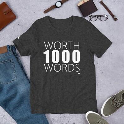 """1000 Words"" Short-Sleeve Unisex T-Shirt"