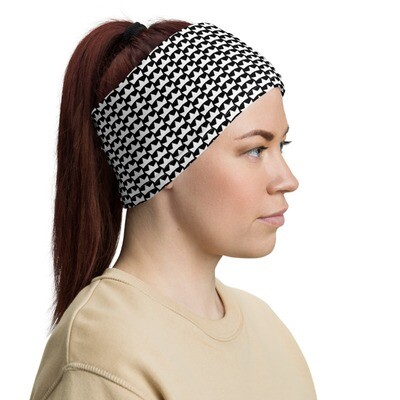 """""""Crowns Up"""" Face Covering / Headband (black)"""