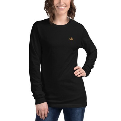 """""""Crowns Up"""" Embroidered Unisex Long Sleeve Tee"""