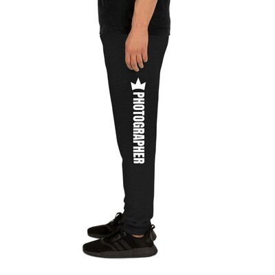 """Photographer"" Unisex Joggers (Black)"