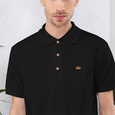 """""""Crowns Up"""" Embroidered Polo Shirt"""
