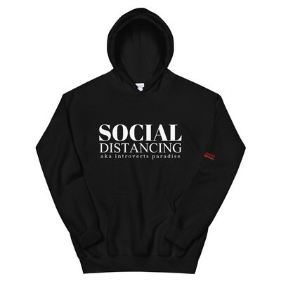 Social Distancing for Introverts Unisex Hoodie