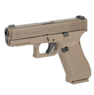 "Glock, 19X, Striker Fired, Compact, 9MM, 4.02"" Marksman Barrel, Polymer Frame, Coyote Finish"