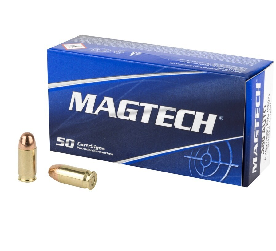 Magtech, Sport Shooting, 380ACP, 95 Grain, Full Metal Case, 50 Round Box