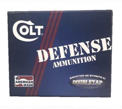 DoubleTap Ammunition, Colt Defense, 9MM, 124Gr, Jacketed Hollow Point, 20 Round Box