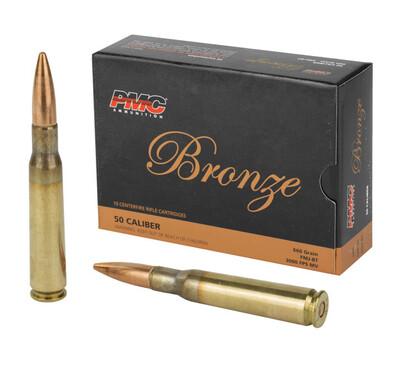 PMC, Bronze, 50 BMG, 660 Grain, Full Metal Jacket Boat Tail, 10 Round Box