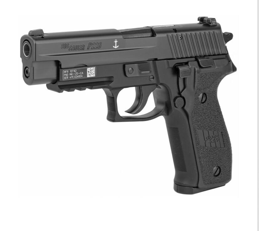 "Sig Sauer, P226, MK-25, DA/SA, Full Size, 9MM, 4.4"" Barrel, Alloy Frame, Black"