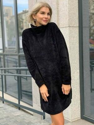 Платье Плюшевое, черный