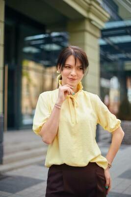 """Блуза """"Алиса"""" Желтый"""