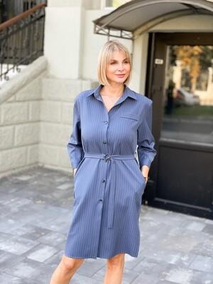 """Платье-рубашка """"Линда"""" Синий"""