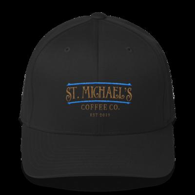 Blue/Gold Stitch Structured Twill Cap