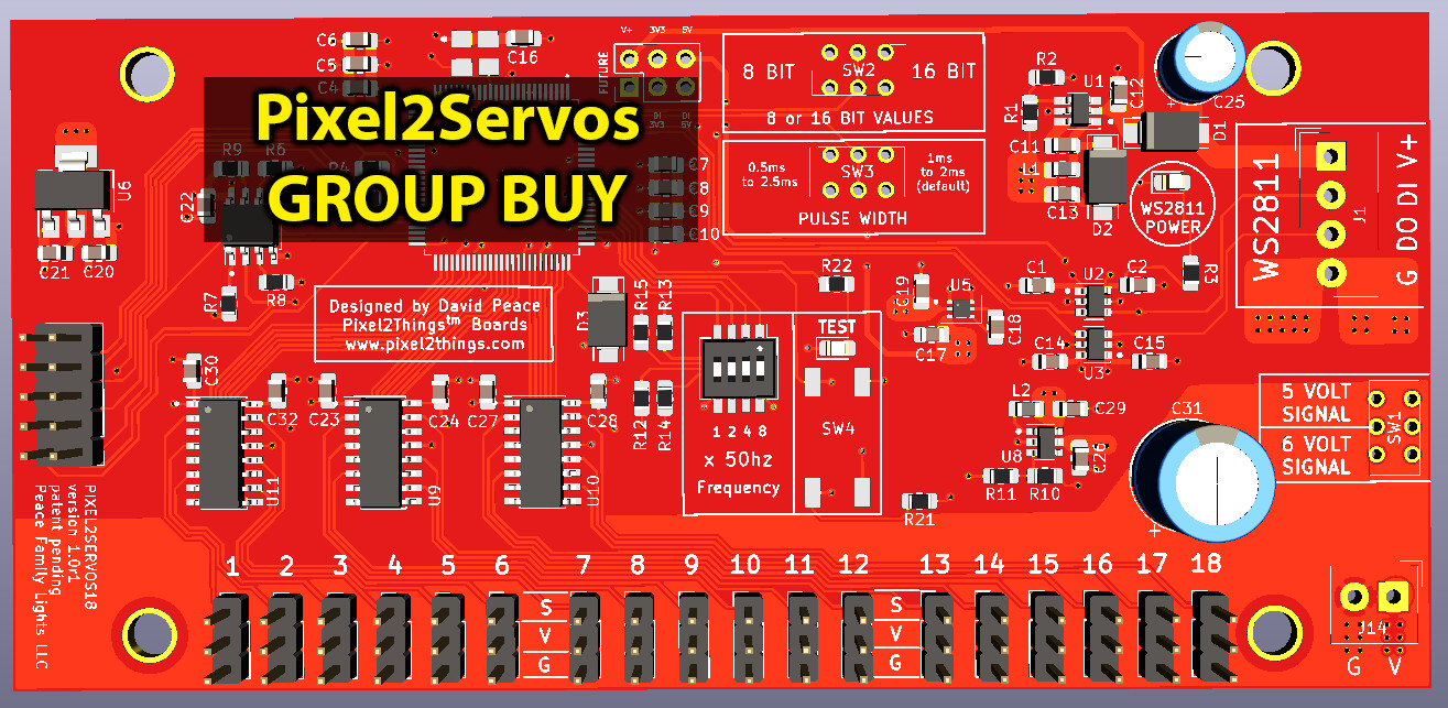 18 Servo Outputs / Fully Assembled Board [GROUP BUY]