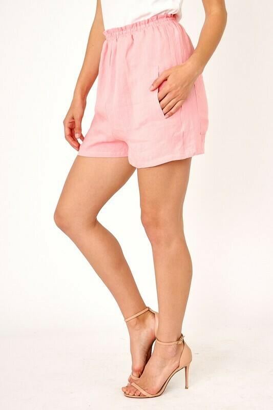 Linen Elastic Shorts