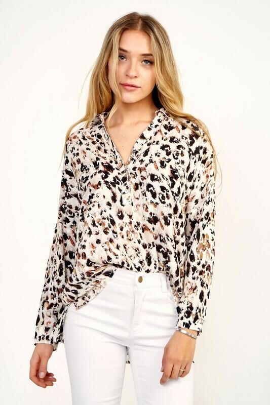 Leopard Button Up Shirt