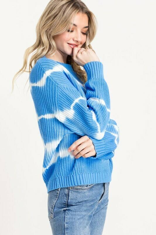 Tie Dye Knit Sweater