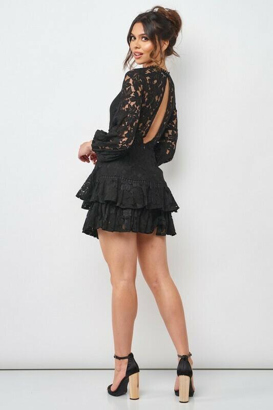 Lace Crotchet Peasant Dress