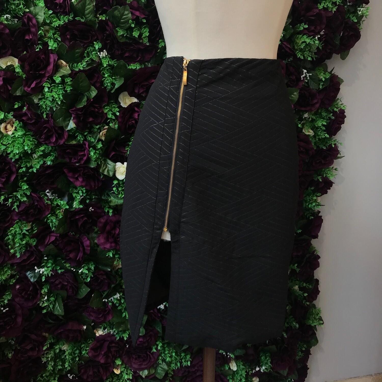 Side Zip Black Skirt