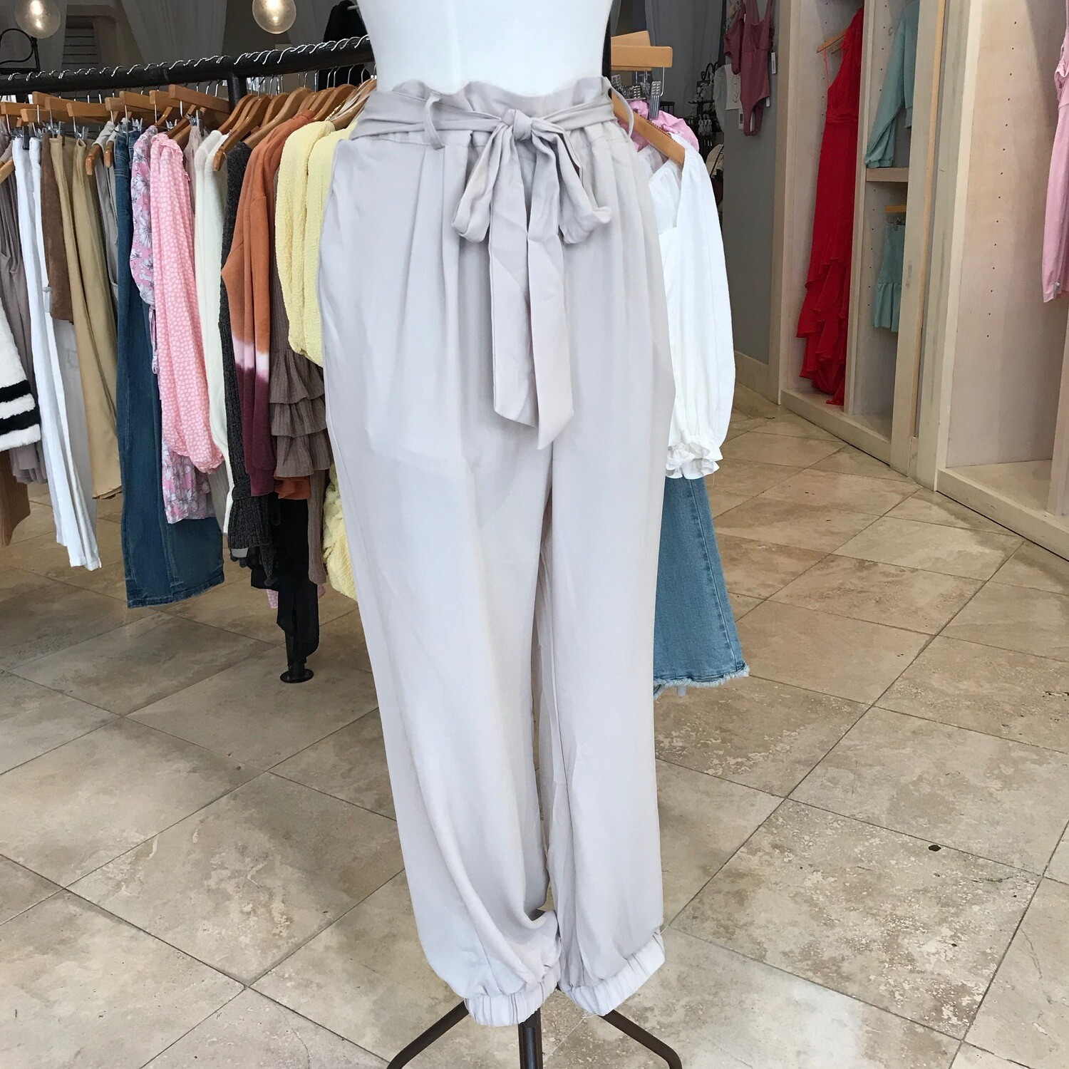 Tan Belted Pants