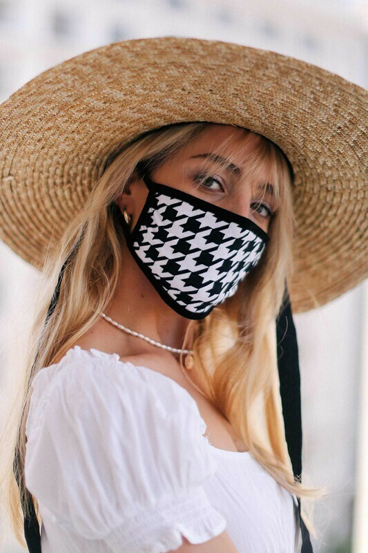 Houndstooth Cotton Mask