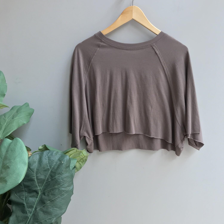 Cropped Raglan Short-Sleeve Shirt