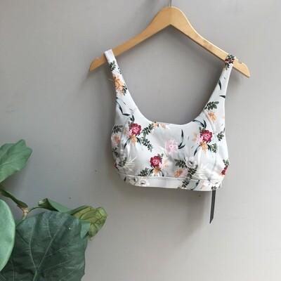 Ikebana Floral Print Sports Bra