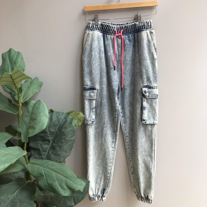 Acid Washed Jogger Pants