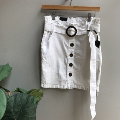 Paperbag Skirt & Tortoise Belt