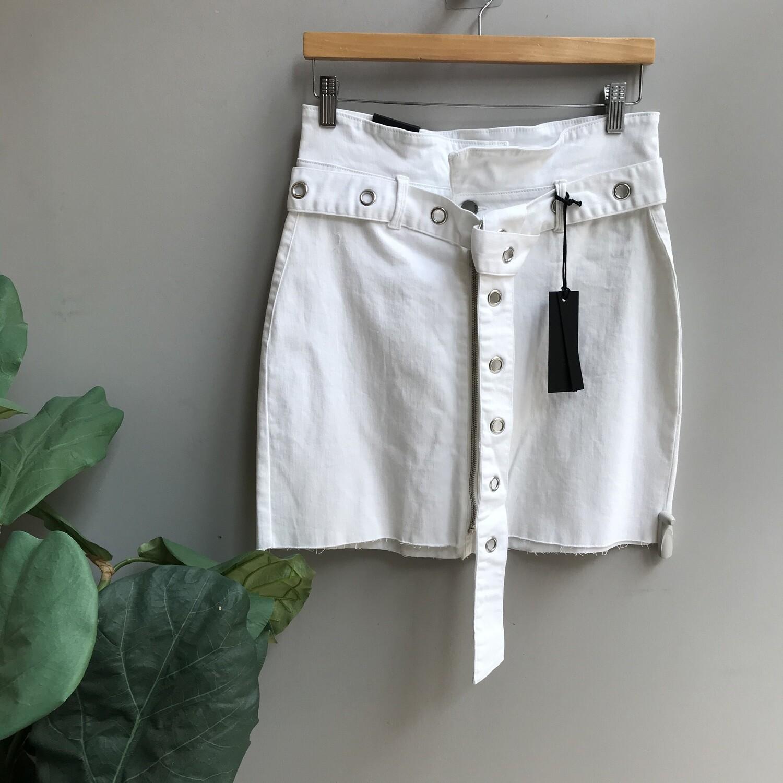 Paper Bag Skirt with Grommet Belt