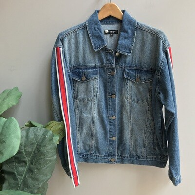 Sleeve Stripe Oversized Jacket
