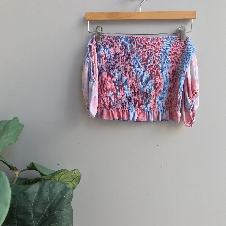 Off Shoulder Tie Dye Top