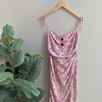 Riley Floral Print Midi Dress
