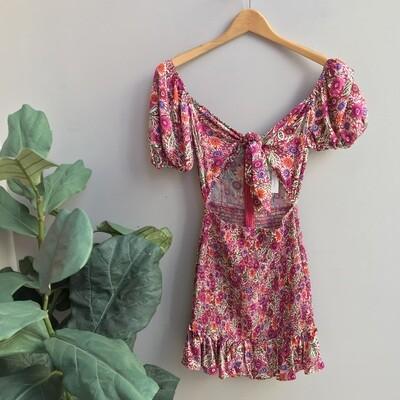 Taylor Floral Print Smocked Dress