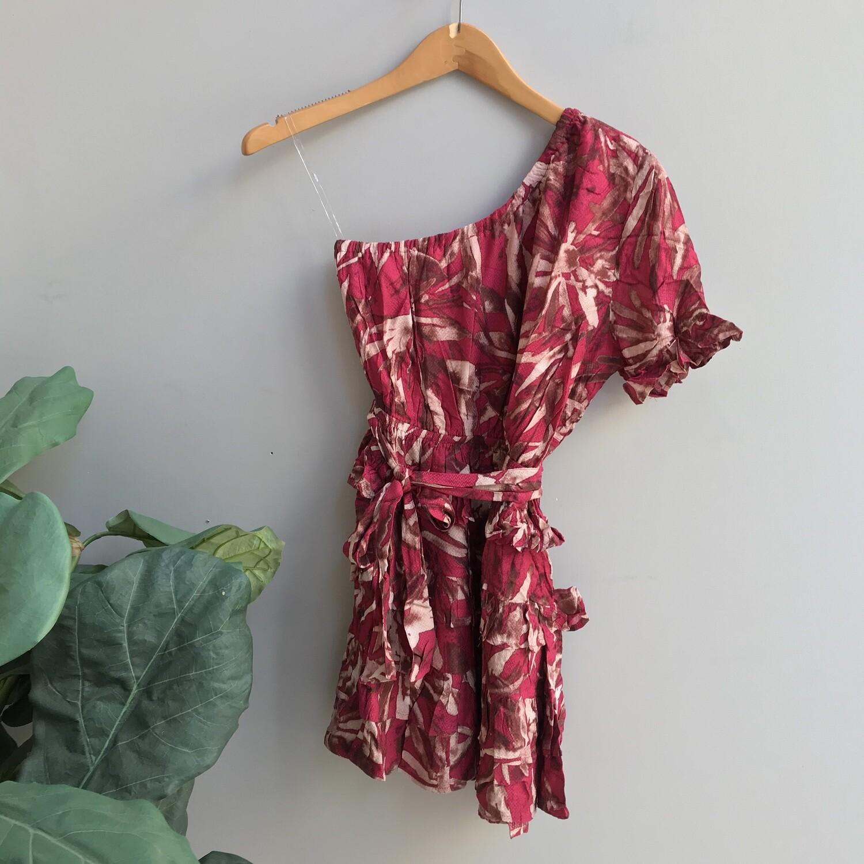 Brenda One Shoulder Floral Dress