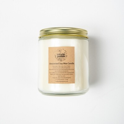 Unscented Soy Wax Candle