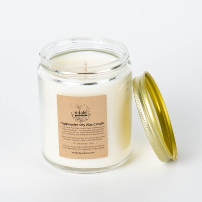 Peppermint Soy Wax Candle
