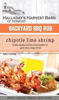 Halladay's Harvest Barn Backyard BBQ Rub Chipotle Lime Shrimp