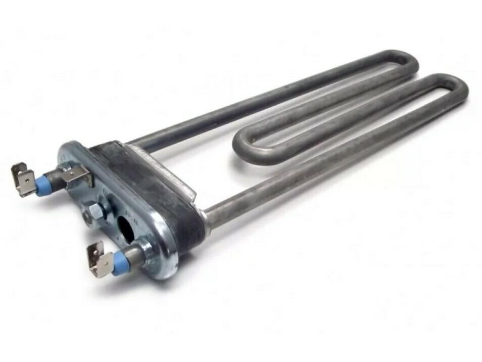 Тэн 2000W, прямой, с отверстием под датчик, L=205 мм, l=12 мм,  резинка ровная, сдвоенные клеммы HTR071