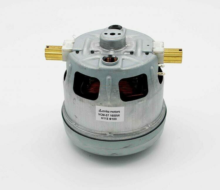 Пылесос двигатель BOSCH 1600W VCM-B18 1BA4418-6NK+A маленький, H=113mm, D=103mm (VCM-57)