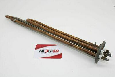 Нагревательный элемент RF64mm 2,5 кВт.(1500+1000) горизонтальный(L-370мм, общий контакт под винт М4 замена Аристон ШАТЛ)