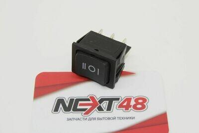 Выключатель одноклавишный 26*31 мм(15А 250В, 3 положения 6 конт. ON-OFF-ON)