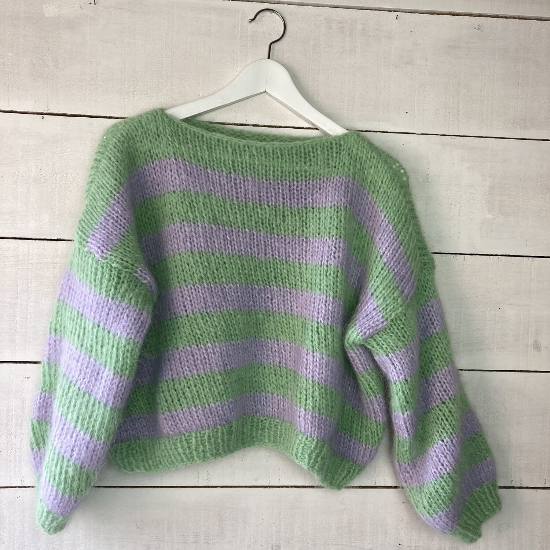 Trui Julia - groen / lavendel