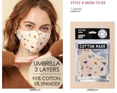 Mask with umbrella design