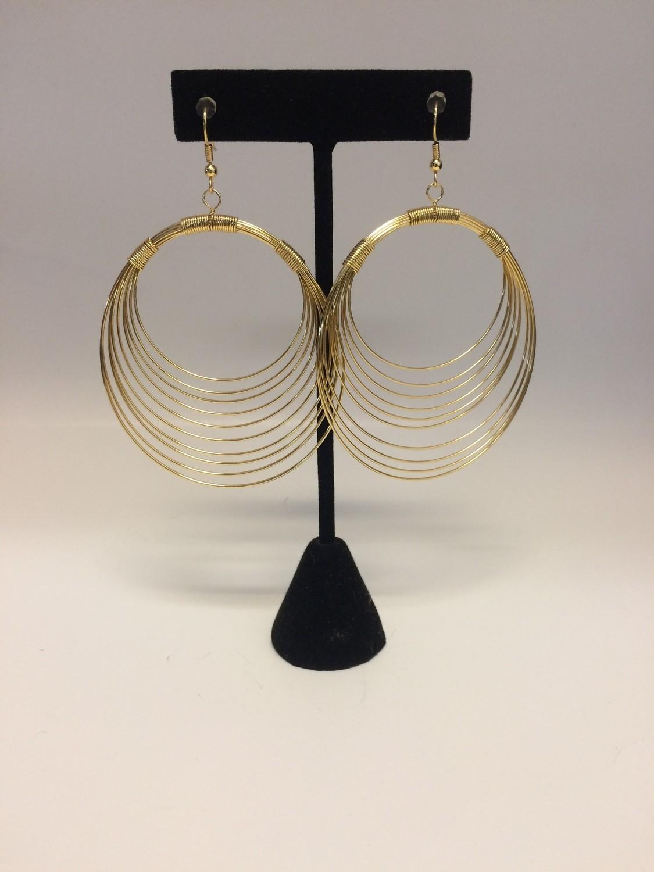 Gold Plated Wire Hoop Earrings