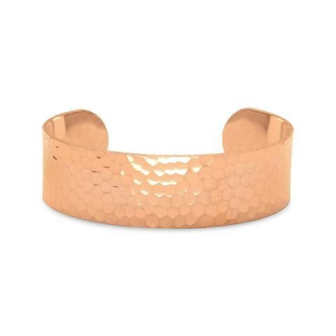 19mm Wide Hammered Copper Cuff/Bracelet