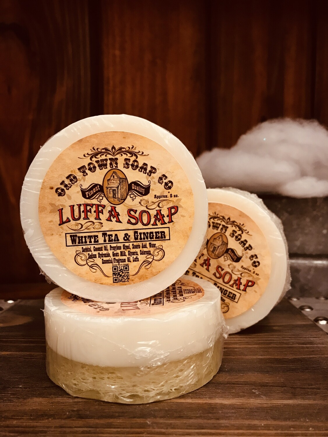 White Tea & Ginger -Luffa Soap