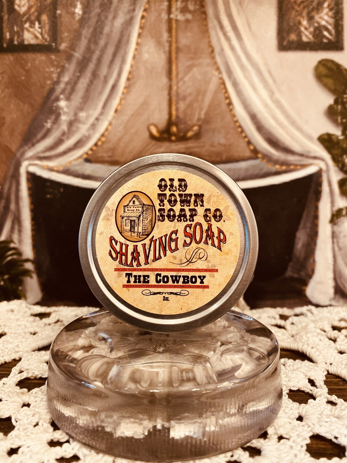 The Cowboy -Shave Soap Tin