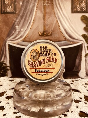 Poseidon -Shave Soap Tin
