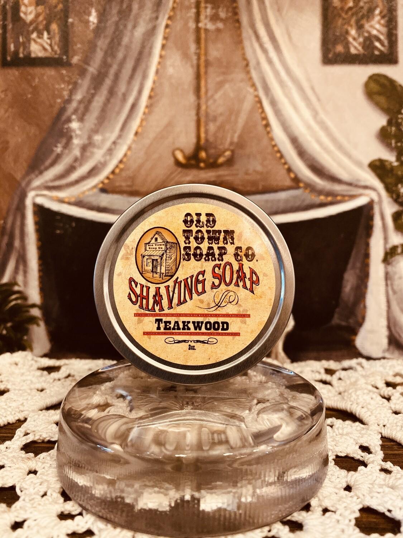 Teakwood -Shave Soap Tin